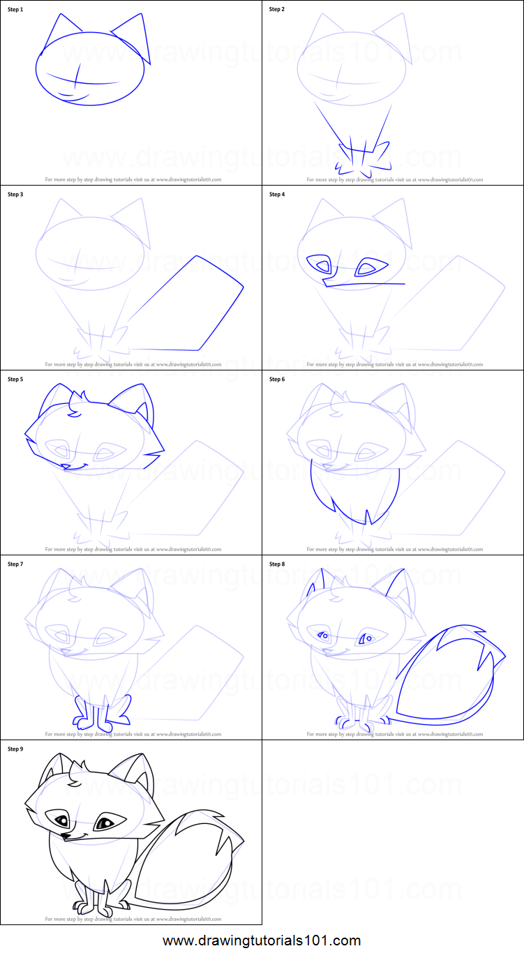 How To Draw A Arctic Fox : arctic, Arctic, Animal, Printable, Drawing, Sheet, DrawingTutorials101.com