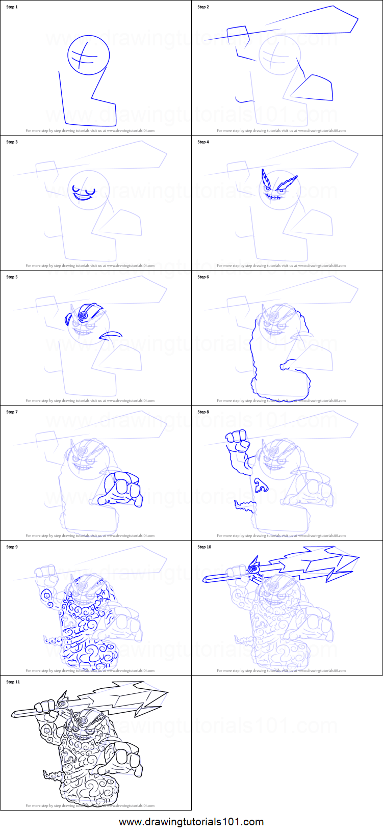 How To Draw A Thunderbolt : thunderbolt, Thunderbolt, Skylanders, Printable, Drawing, Sheet, DrawingTutorials101.com