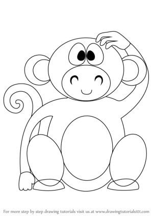 zoo draw animals step cartoon monkey easy drawing tutorial drawingtutorials101 learn