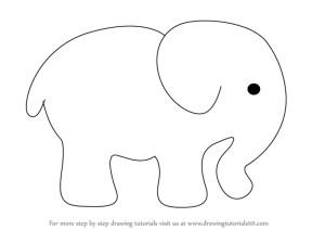 elephant draw drawing zoo kid step learn elephants animals drawings easy cartoon drawingtutorials101 paintingvalley