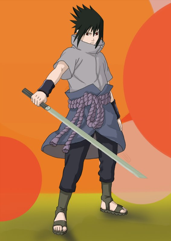 Full Body Sasuke Drawing : sasuke, drawing, Learn, Sasuke, Uchiha, Naruto, (Naruto), Drawing, Tutorials