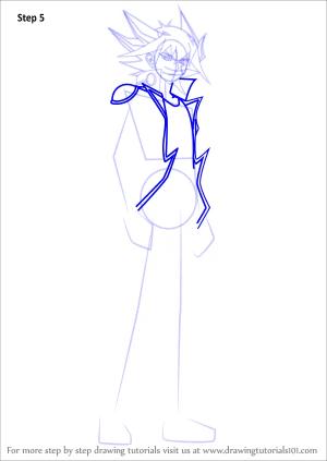 yu gi oh draw step yusei fudo 5d drawing tutorials 5ds drawingtutorials101 anime