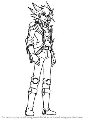 yu gi oh draw yusei fudo step 5d drawing 5ds anime manga drawingtutorials101 previous tutorials