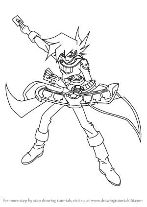 yu gi oh draw gx chazz princeton step drawing tutorials manga anime drawingtutorials101