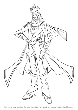 yu gi oh gx draw sartorius drawing step tutorials anime tutorial drawingtutorials101