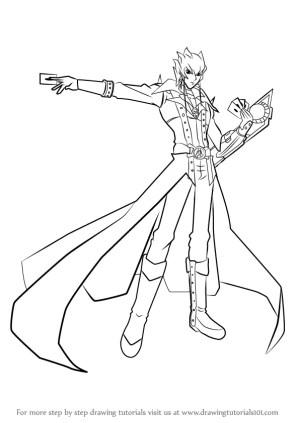 yu gi oh draw atlas jack drawing step yugi muto anime manga tutorials drawingtutorials101