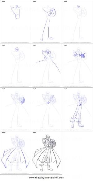kaiba draw seto drawing yu gi oh step drawingtutorials101 anime