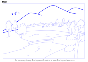 landscape easy step draw drawing landscapes tutorials tutorial learn architecture