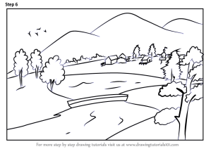 landscape easy draw step drawing landscapes tutorials architecture learn tutorial places