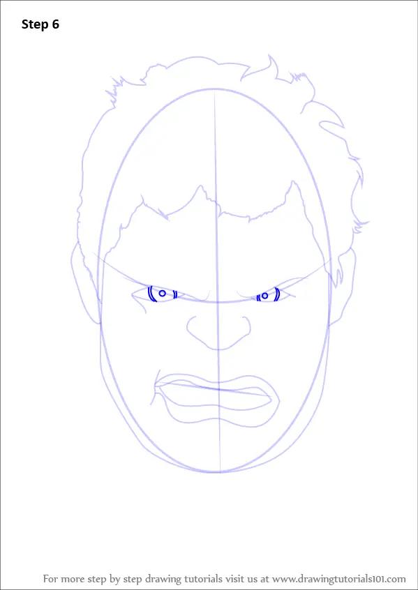 Hulk Face Drawing : drawing, Learn, Hulk), Drawing, Tutorials