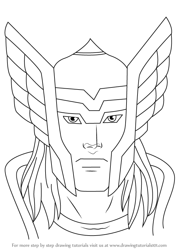 Thor Drawing Easy : drawing, Learn, (Thor), Drawing, Tutorials