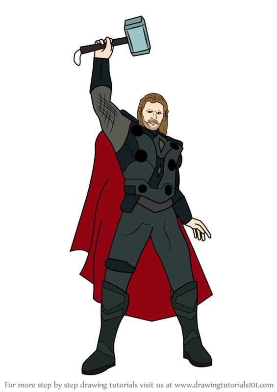 Thor Drawing Tutorials - Step by Step