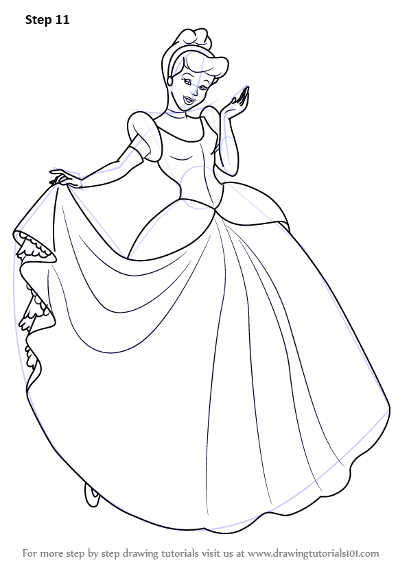 How To Draw Cinderella : cinderella, Learn, Princess, Cinderella, (Cinderella), Drawing, Tutorials