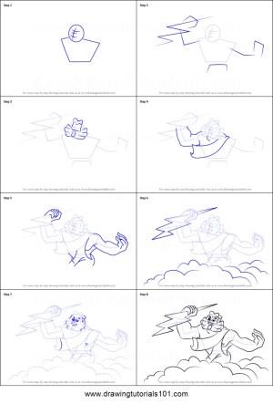 zeus draw step drawing fantasia cartoon drawingtutorials101