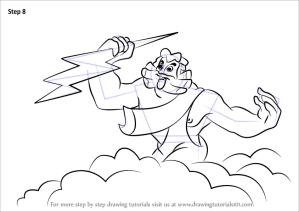 zeus draw step fantasia drawing cartoon tutorials drawingtutorials101 tutorial learn