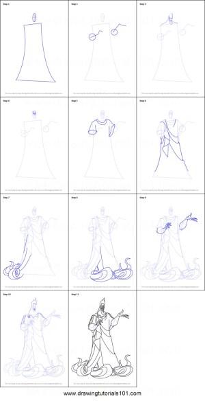 hades draw hercules step drawing cartoon drawingtutorials101 printable drawings disney greek underworld sheet