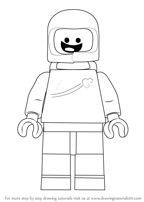 Lego Drawing Easy : drawing, Learn, Benny, Movie, Movie), Drawing, Tutorials