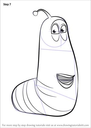 larva draw yellow drawing step cartoon learn colorear para tutorials larvae coloring pages drawings tv drawingtutorials101 dibujos imprimir sheets pintar