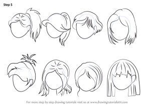 draw anime drawing step female drawings simple tutorials learn male cartoon hairstyles sketch hairstyle tutorial beginners easy tegninger af sketching
