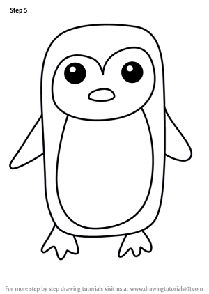 draw easy drawing step penguin animals tutorials drawings tutorial learn paintingvalley