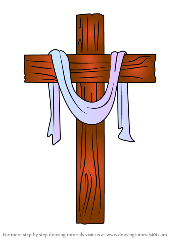 How To Draw A Cross Step By Step : cross, Learn, Cross, (Christmas), Drawing, Tutorials