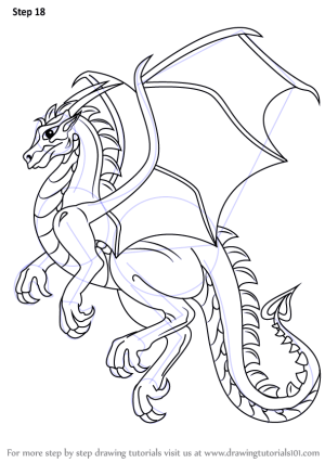 dragon draw easy drawing step dragons drawings line tutorials tutorial sketches learn flying drawingtutorials101 simple sketch cartoon realistic beginners fly