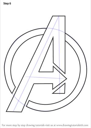 avengers draw drawing drawings step sketch logos ferrari marvel brand easy tutorials superhero learn google drawingtutorials101 simple symbols sketches template