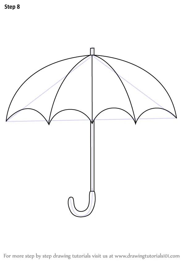 How To Draw An Umbrella Easy : umbrella, Umbrella, Easily, Learn