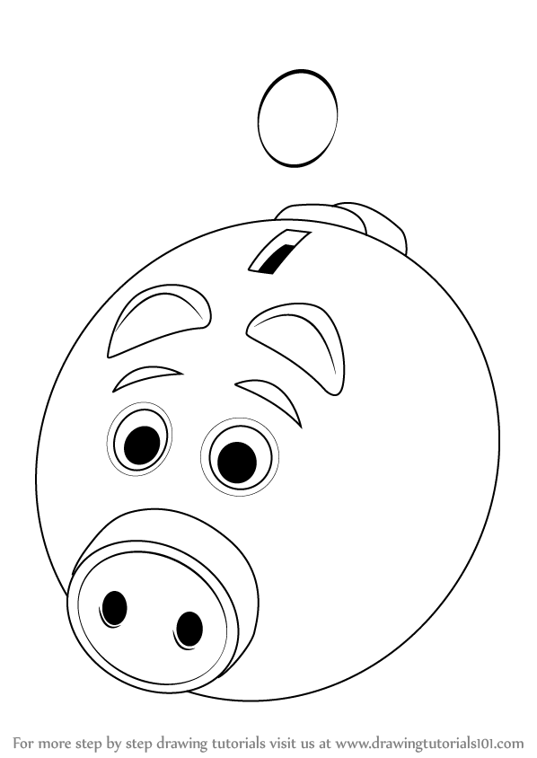 Bank Drawing Easy : drawing, Learn, Piggy, (Everyday, Objects), Drawing, Tutorials