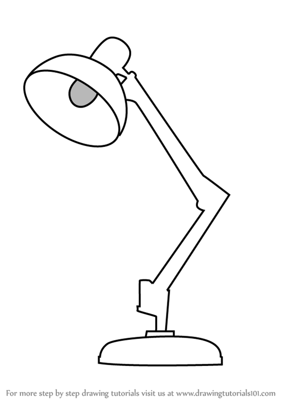 Lamp Drawing Easy : drawing, Learn, Table, (Furniture), Drawing, Tutorials