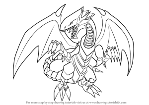 dragon yu eyes gi oh draw card drawing step coloring pages official dark printable tutorials anime learn branco getdrawings manga