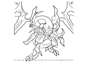 dragon xyz yu rebellion dark gi oh draw card drawing eye step demon official coloring pages tutorials template sketch templates
