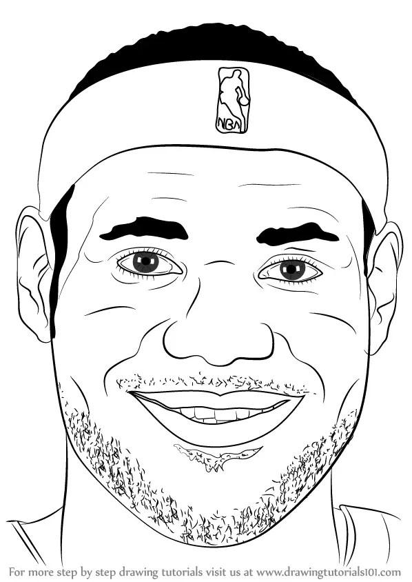 How To Draw Lebron James : lebron, james, Learn, LeBron, James, (Basketball, Players), Drawing, Tutorials