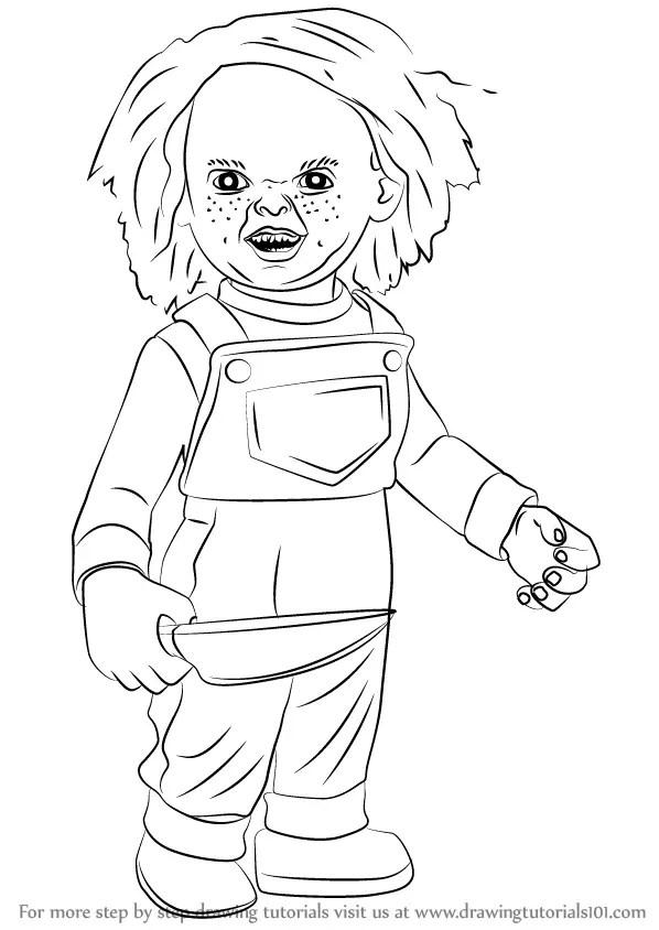 Chucky Coloring Pages : chucky, coloring, pages, Elegant, Chucky, Coloring, Pages