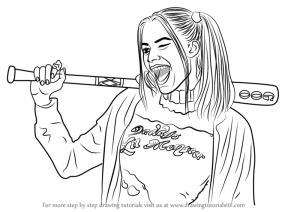 quinn harley draw robbie margot step drawing tutorials characters drawingtutorials101 tutorial