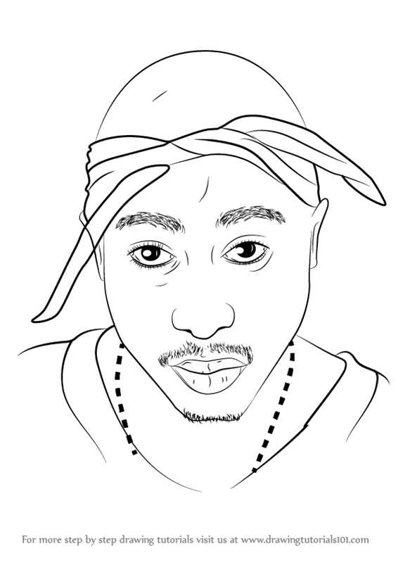 Tupac Drawing Easy : tupac, drawing, Learn, (Rappers), Drawing, Tutorials