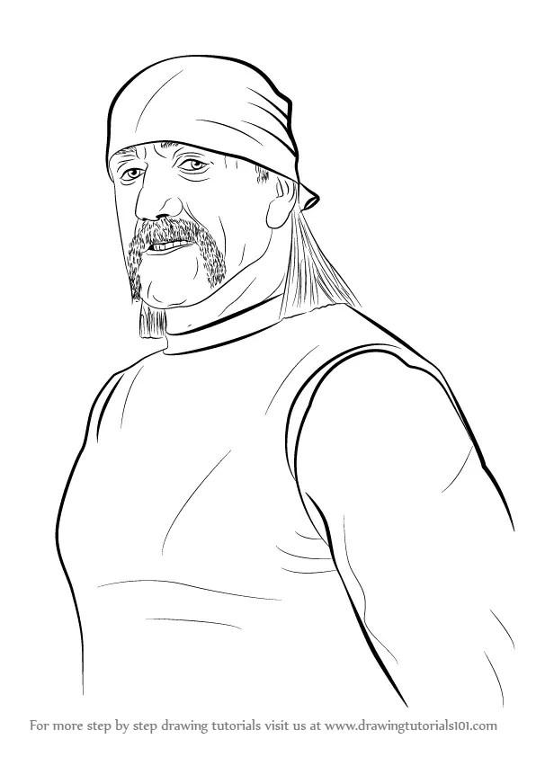 Hulk Hogan Drawing : hogan, drawing, Learn, Hogan, (Wrestlers), Drawing, Tutorials