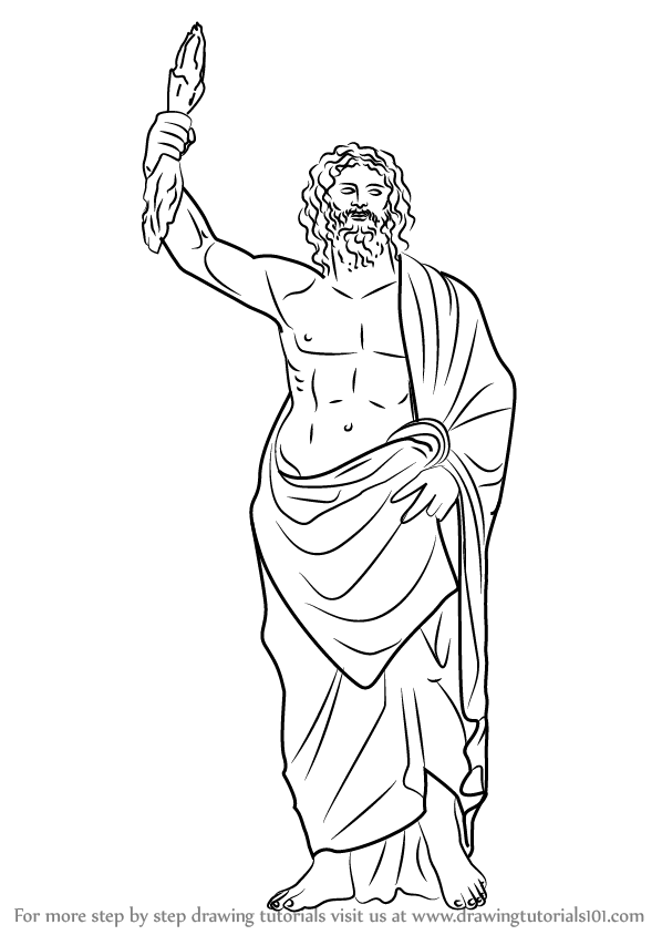 Learn How to Draw Zeus (Greek Gods) Step by Step : Drawing