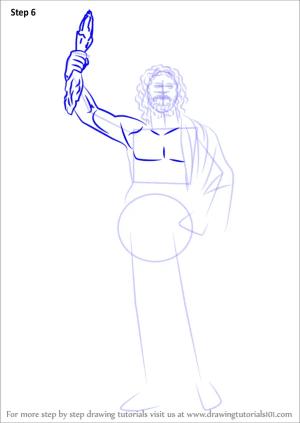 draw zeus drawing step cartoon greek drawingtutorials101 gods tutorials drawings paintingvalley learn