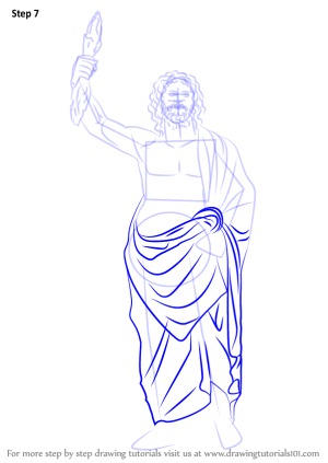 zeus draw step drawing tutorials drawingtutorials101 greek easy drawings gods sketches