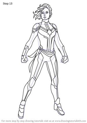 marvel captain avengers draw step endgame drawing drawingtutorials101 tutorials