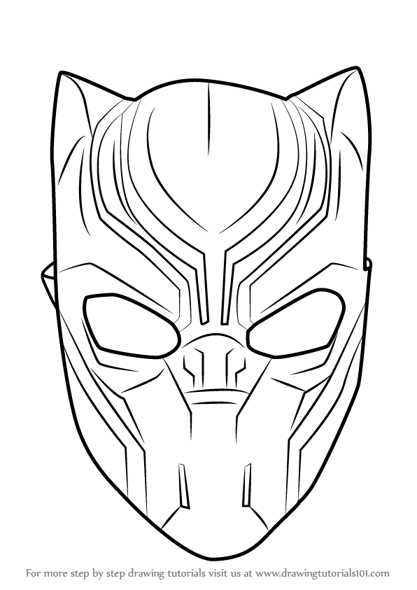 Panther Face Drawing : panther, drawing, Learn, Black, Panther, (Captain, America:, Civil, Drawing, Tutorials