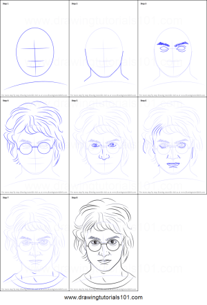potter harry step draw drawing easy drawings printable tutorials coloring pages
