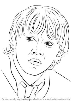 potter harry ron weasley draw step drawing tutorials drawingtutorials101