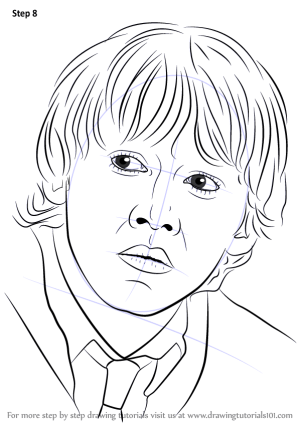 potter ron harry weasley draw step drawing sketch drawings coloring tutorials zeichnen