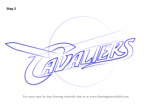 draw cavaliers drawing cleveland step nba tutorial