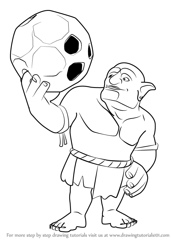 Clash Of Clans Coloring Pages Printable Coloring Pages