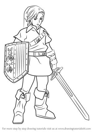link draw warriors hyrule drawing step tutorials games tutorial drawingtutorials101