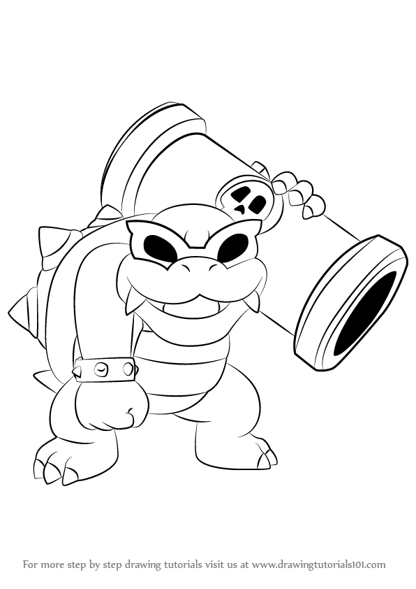 Koopalings Coloring Pages : koopalings, coloring, pages, Learn, Koopa, Koopalings, (Koopalings), Drawing, Tutorials