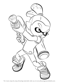 Splatoon Coloring Pages For Pinterest Sketch Coloring Page